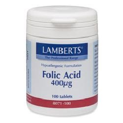 Folic Acid 400µg100 tablets
