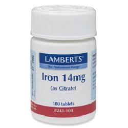 Iron 14mg (as Citrate)100 tablets