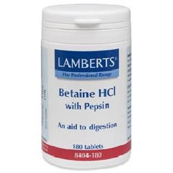 Betaine HCl 324mg with Pepsin 5mg180 tablets