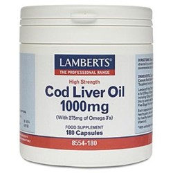 Cod Liver Oil 1000mg 180 Capsules
