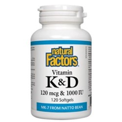 Vitamin K & D (120 mcg vitamin K with 1000 IU (25mcg) vitamin D3)