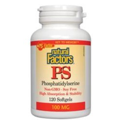 Phosphatidylserine Non-GMO Soy Free 100 mg30 or 60 softgels