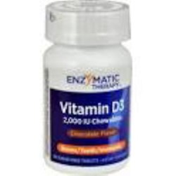 Vitamin D3 (50mcg) 2000IU90 Chocolate flavour Chewable tablets