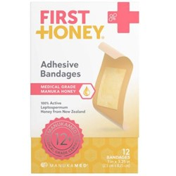 First Honey Adhesive Plasters (12 x 2.5cm x 8.25cm)