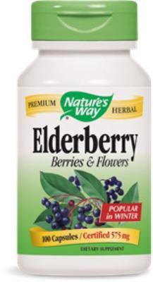 Elderberry Berries and Flowers<br>575mg<br>100 capsules