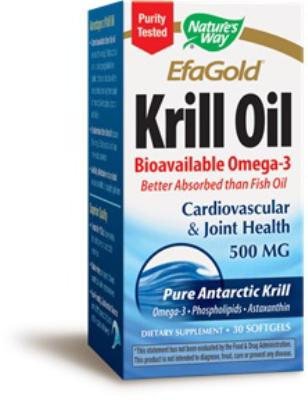 EFAGold&reg; Krill oil<br>500mg<br>30 SoftGels