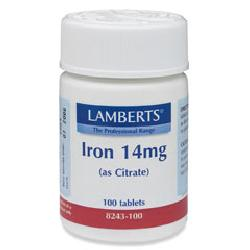 Iron 14mg (as Citrate)<br>100 tablets<br>