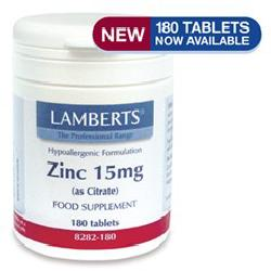Zinc (Citrate) 15mg<br> 90 tablets