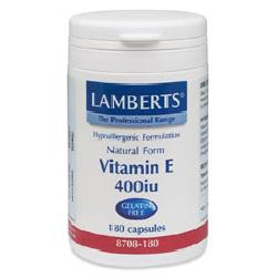 Vitamin E (Natural) 400iu<br>60 Vegicapsules<br>Gelatin Free