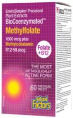 BioCoenzymated™ Methylfolate 1000 mcg/50 mcg Plus methylcobalamin B12 (60 suckable | Sublingual tablets