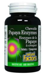 Chewable Papaya Enzymes with Amylase and Bromelain<br>120 tablets