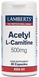 Acetyl L Carnitine 500mg 60caps