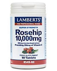 Rosehip 10,000mg<br>Providing 250mg of Vitamin C<br>60 Tablets
